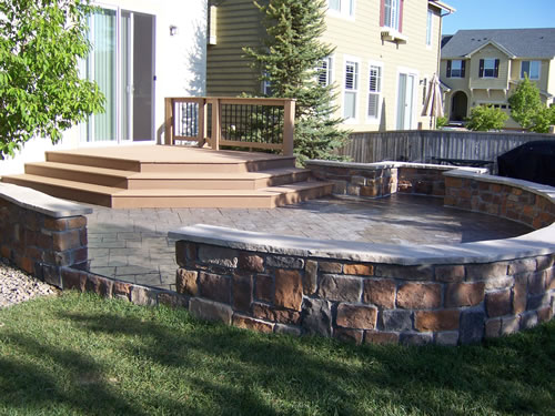 3concrete stone deck living area